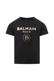 T-Shirt  con logo oro bambini