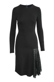 Long Sleeved Dress with Embroidered Panel