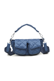 Ellery Navy Quilt Unlimit Shoulder Bag