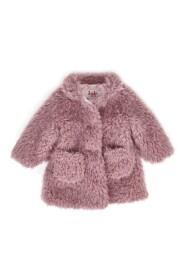 cappotto baby girl in eco pelliccia