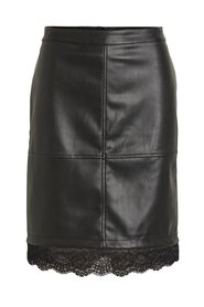 Leather skirt Lace faux