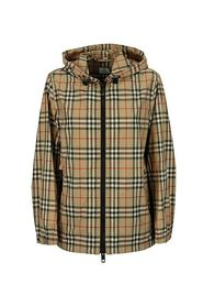Vintage Check Recycled Polyester Hooded Jacket EVERTON
