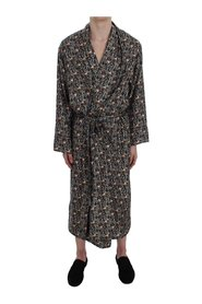 Medieval Key Print Silk Nightgown
