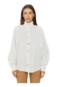 Cotton blouse with wide sleeves