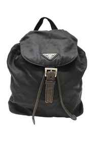 Pre-owned Tessuto Chain Drawstring Backpack