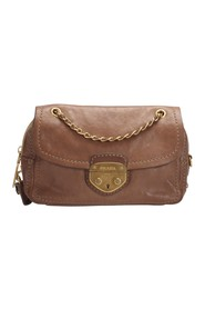 Sound Lock Leather Chain Shoulder Bag