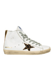 women's shoes high top leather trainers sneakers francy