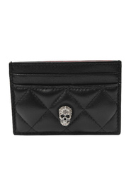 Pave Sk.Card Holder in Leather