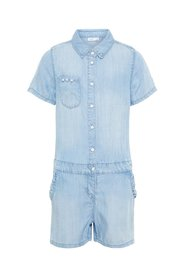 Playsuit lichtgeweven denim