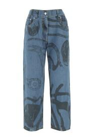 Jeans imprimé tigre