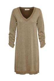 Cream 10603750 Serena knit Dress Brown gold