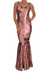 Crystal Sequined Sheath Gown