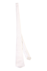 Micro-patterned silk tie