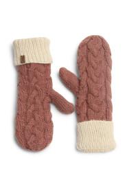 Strik handsker i pink