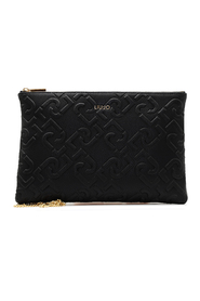 Logo Patterned Clutch Bag