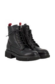 Soft leather combat boots