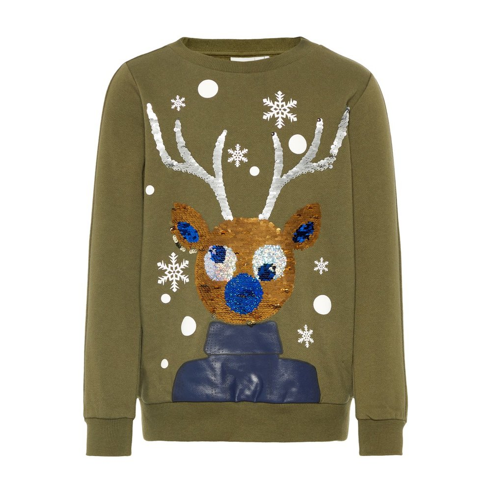 Sweatshirt flip sequin - christmas