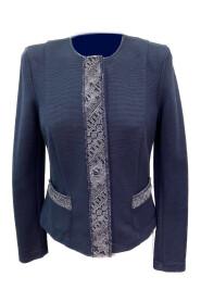 Pula-jacket vest met kanten boord.