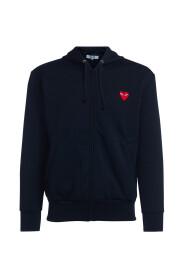 sweatshirt with hood and red heart