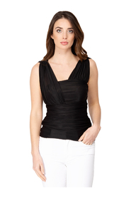 DRAPED DRAPED LALABEL TOP IN JERSEY