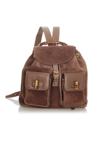 Pre-owned Suede Backpack