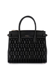 Pin Cometa quilted leather shoulder bag.