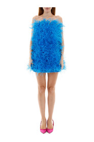 Marabou mini dress