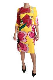 Floral Crystal Bodycon Sheath Dress