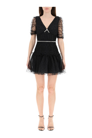 polka dot tulle mini dress