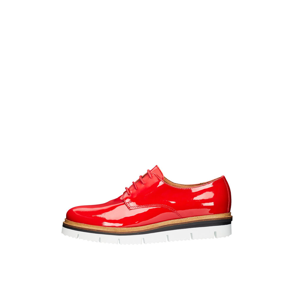 Flate 3 Inn Bianco sko fra Derby Red Lace up Shoes 8qddvHp