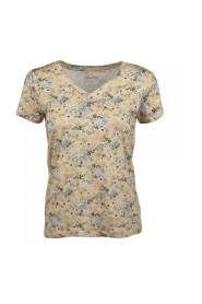 Gul Sandra T-skjorte V-hals topp