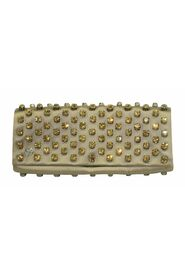 Satin Leather Clutch with Embellishments