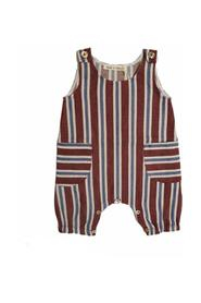 VERTICAL STRIPED OVERALLS WITH POCKETS