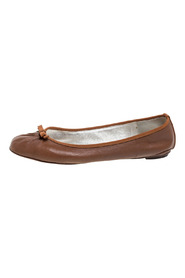 Leather Bow Ballet Flats