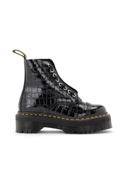 Sinclair amphibian in patent leather with crocodile print