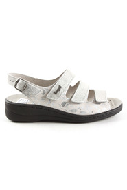 off white zilver Stuppy 2835-822-536 sandalen
