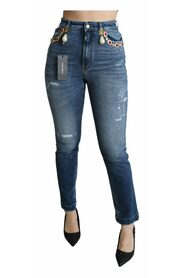 Embellished Slim Fit Pants Jeans