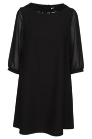 Angie Sheer Sleeve Trapeze Dress