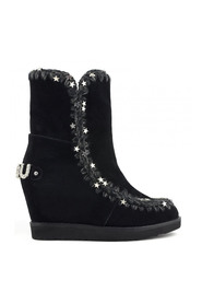 Wedge Tall Metal Stars Boots