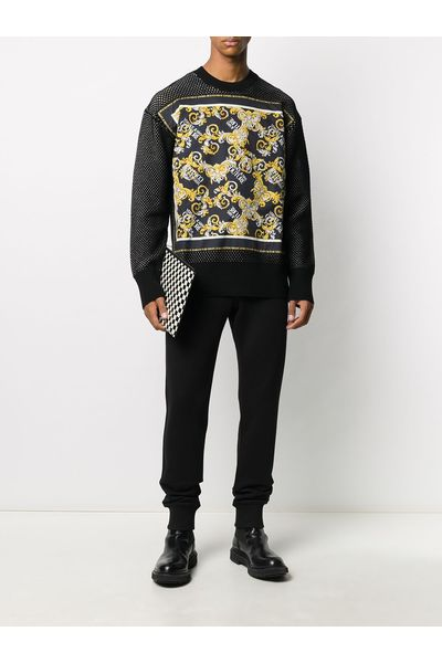 Black Maglia Versace Jeans Couture Sweat-shirts