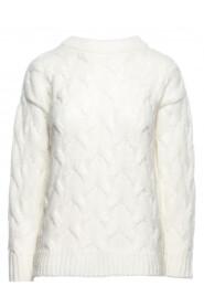Sweter ze splotem typu warkocz BK038