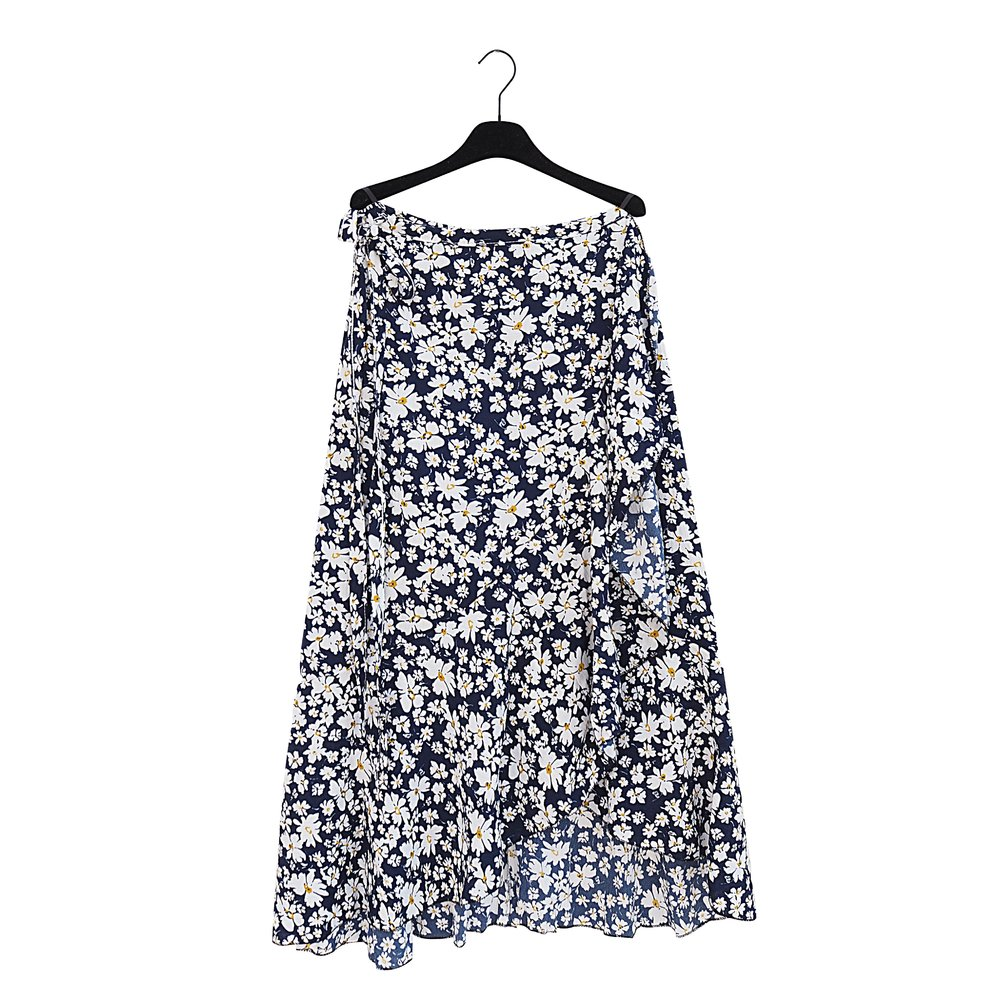 LILLY Blue Wrap-Skirt