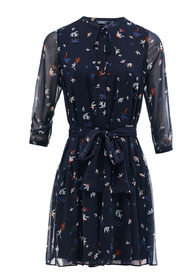 ALLOVER DRESS WITH BELTED