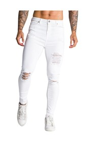 Embroidered Racer Roses Jeans