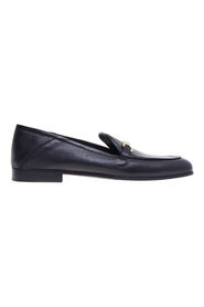 Leather moccasin with horsebit