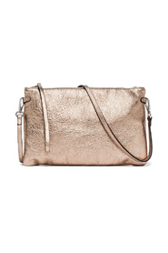 Clutch bag in laminated leather