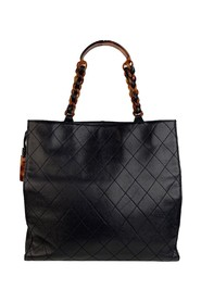 Quilted Tote Bag Shopper Lucite Handles