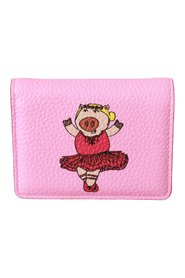 Year Of The Pig Bifold Card Holder Leather Wallet