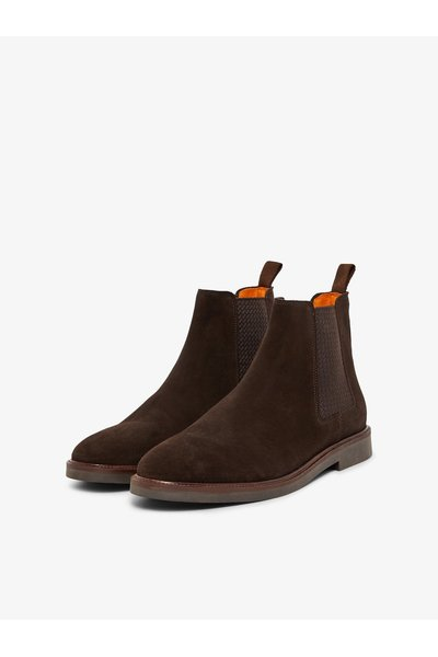 DarkBrown chelsea boots Leather   Bianco   Boots