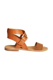 Billie bi-material leather sandals